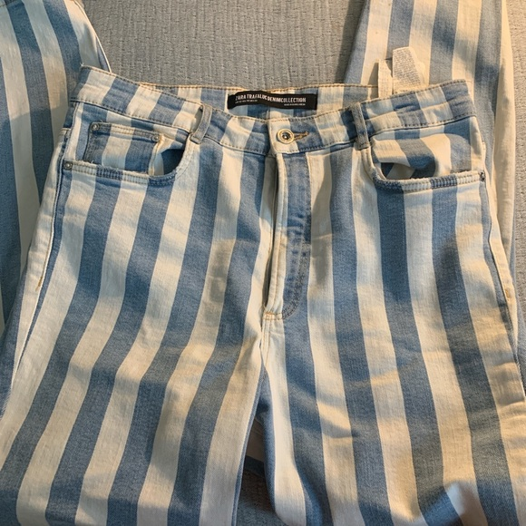 Zara Striped Jeans
